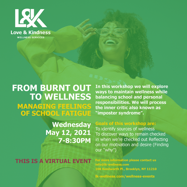 From Burnt Out to Wellness Flyer