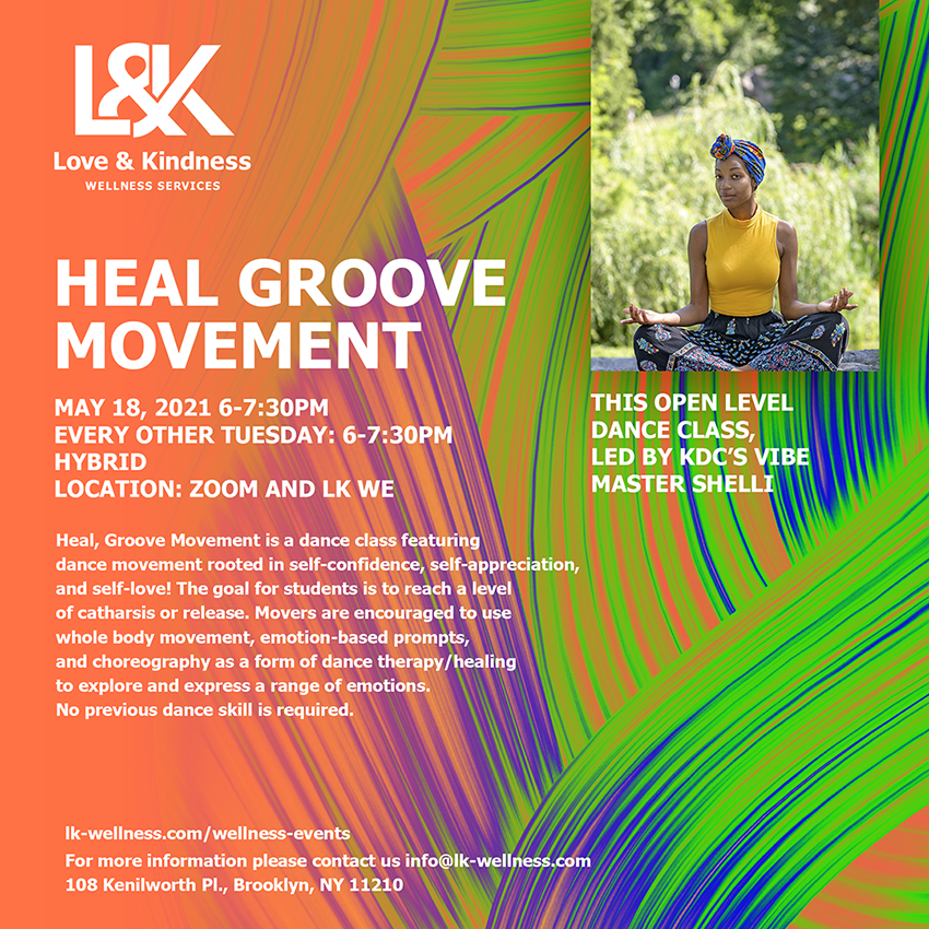 Flyer for Heal Groove Movement