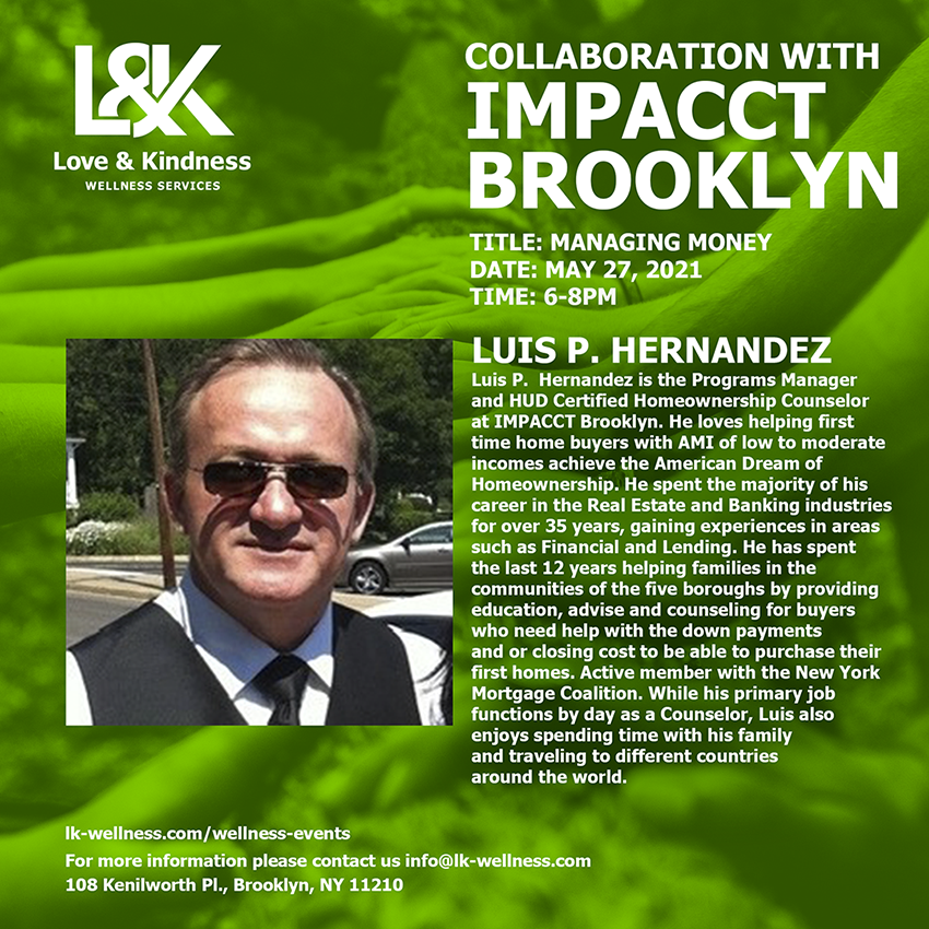 Flyer for Collaboration with Impacct Brooklyn event